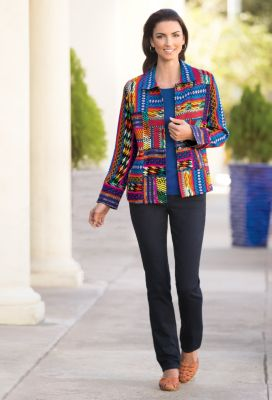 Tereza Patchwork Jacket Outfit