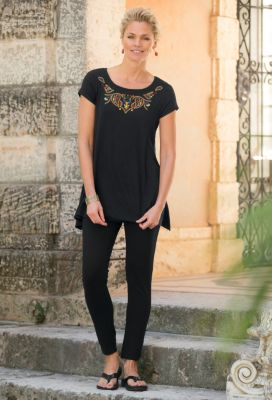 Paz Embroidered Handkerchief Tunic Outfit