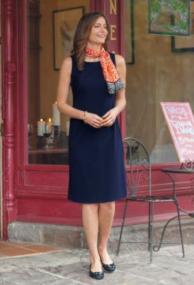 Jet Set Knit Day-to-Night Sheath Dress Outfit