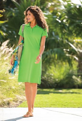 Foxcroft Short-Sleeved Polo Dress Outfit