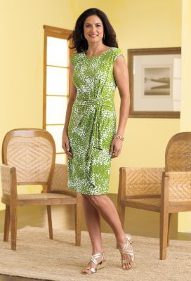 Voyager Knit Draped-Waist Dress Outfit