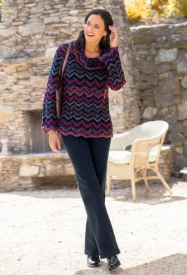 Zigzag Cowlneck Sweater Outfit