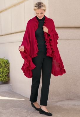 Oversize Ruffle Wrap Outfit