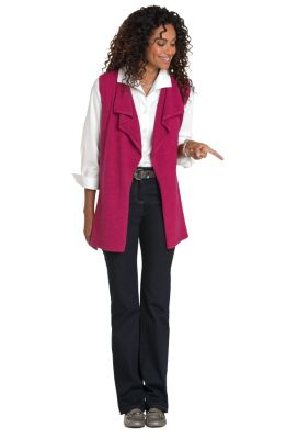 Merino Wool Open-Front Vest Outfit