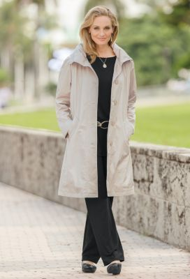 Lucia Crinkle Raincoat Outfit
