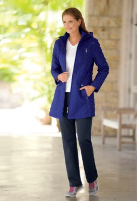 Renata Zip-Front Quilted Jacket Outfit