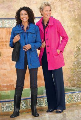 Elena Raincoat & Ultra Packable Raincoat Outfit