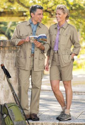 Men's & Women's Bush Poplin Safari Jacket Outfit