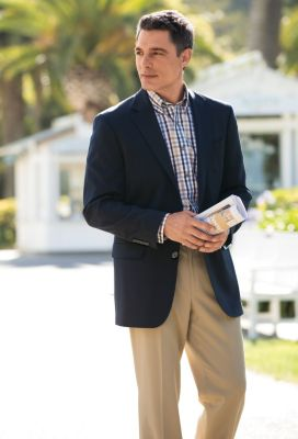 100% Cotton No-Iron Check Twill Shirt Outfit