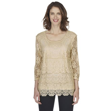 Blanca Scalloped-Lace Tunic