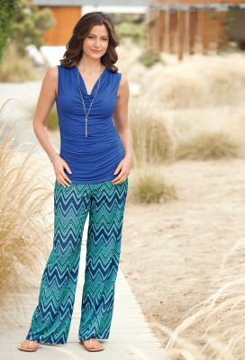 Classic Fit Zigzag Palazzo Pants Outfit