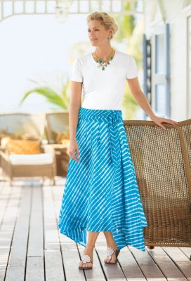 Tie-Dye Handkerchief Skirt Outfit