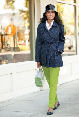 Pin-Dot Trench Outfit
